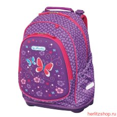 Рюкзак Herlitz Bliss Purple Butterfly c наполнением