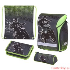 Ранец Herlitz New Midi Motorcross с наполнением